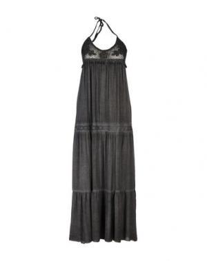 Платье длиной 3/4 SETE DI JAIPUR. Цвет: свинцово-серый
