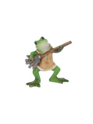 Фигурка декоративная Лягушка с метлой Elan Gallery. Цвет: зеленый