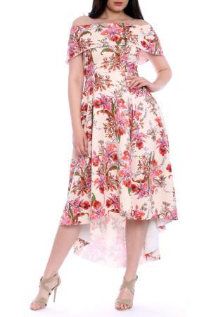 Платье Moda di Chiara. Цвет: мультицвет