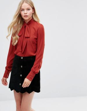 Alter Блузка с завязкой у шеи. Цвет: рыжий