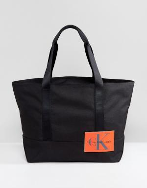 Calvin Klein Сумка-тоут с логотипом Jeans. Цвет: черный