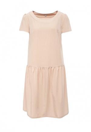 Платье Emka. Цвет: бежевый