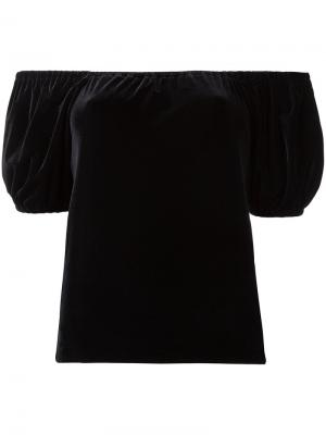 Velour puffy sleeve T-shirt G.V.G.V.. Цвет: чёрный