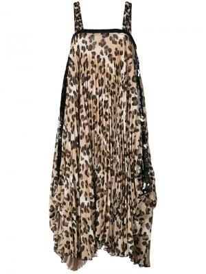 Платье шифт с леопардовым принтом Loyd/Ford. Цвет: none