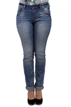 Модные джинсы QS. Цвет: голубой
