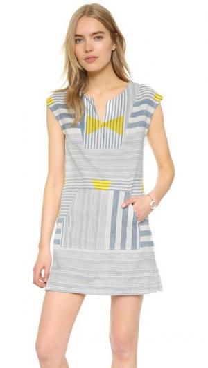 Платье-туника Easy plenty by TRACY REESE. Цвет: белый/глубокий синий