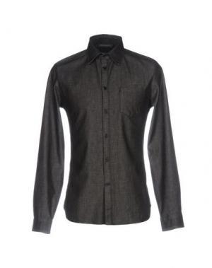 Джинсовая рубашка ERMANNO DI SCERVINO. Цвет: черный