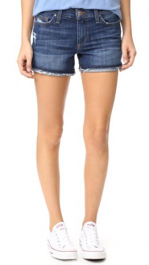 Шорты с отворотами Markie Joe's Jeans. Цвет: синий с эффектом поношенности