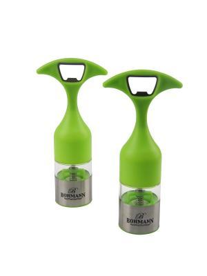 Стильный, зеленый набор для специй BOHMANN. Цвет: зеленый