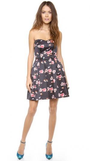 Платье без бретелек с цветочным узором Jill Stuart. Цвет: парижский цветочный