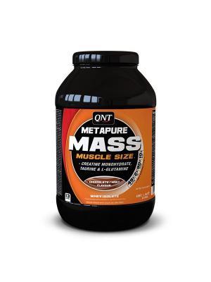 Гейнер QNT METAPURE MASS+( шоколад/ментол), 1,1кг. Цвет: черный