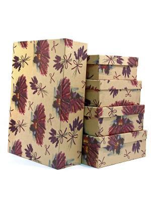 Коробка крафт набор из 5 VELD-CO. Цвет: коричневый
