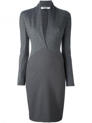 Платье с запахом Chalayan. Цвет: серый