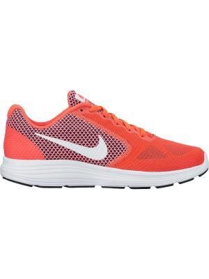 Кроссовки WMNS REVOLUTION 3 Nike. Цвет: красный, белый