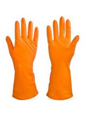 Перчатки резиновые спец. для уборки оранжевые Vetta. Цвет: оранжевый