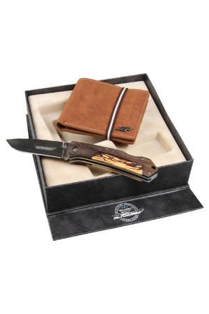 Набор: нож, портмоне Mr.Forsage. Цвет: коричневый