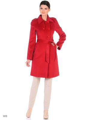 Пальто женское 21-16  1838/123 3XL2 Lea Vinci. Цвет: бордовый