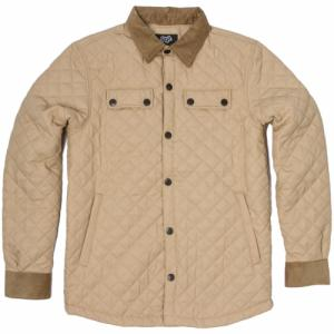New QUILTED BUTTON-UP Saga. Цвет: khaki