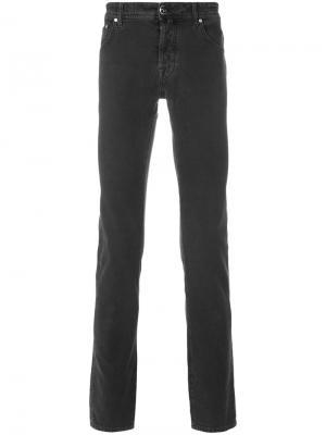 Классические приталенные джинсы Jacob Cohen. Цвет: чёрный