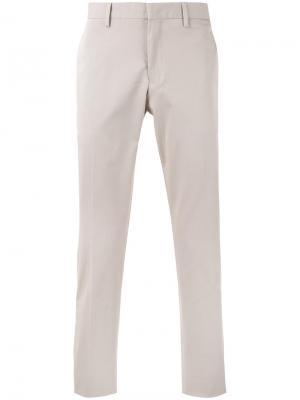 Прямые брюки Canali. Цвет: телесный