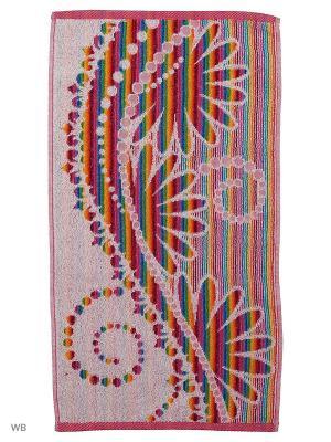 Полотенце махровое пестротканое жаккардовое Рафаэлло Авангард. Цвет: красный, белый
