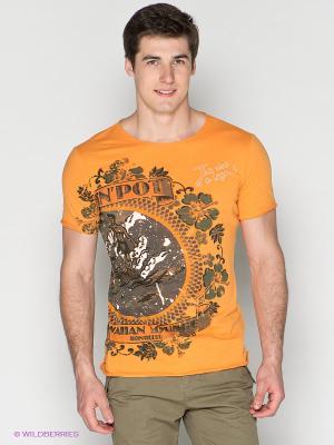 Футболка Meltin'Pot. Цвет: оранжевый