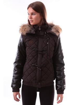 Куртка Sport Vision. Цвет: темно-коричневый, черный