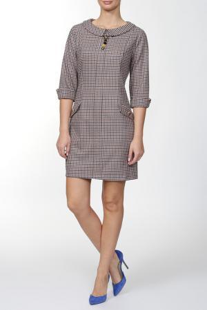 Платье Asil. Цвет: синий, бежевый