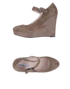 Обувь на танкетке EMANUÉLLE VEE. Цвет: серый
