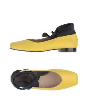 Балетки LUCA VALENTINI. Цвет: желтый