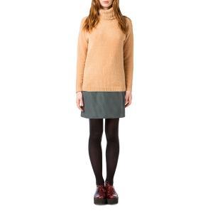 Пуловер-водолазка из тонкого трикотажа BEST MOUNTAIN. Цвет: горчичный