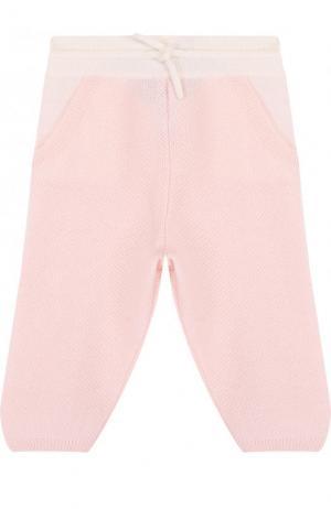 Кашемировые брюки фактурной вязки Loro Piana. Цвет: розовый