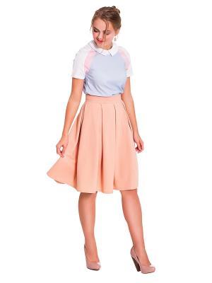 Блузка JATRAW. Цвет: белый, голубой, розовый
