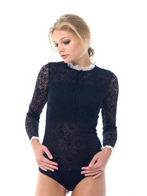 Блузка- боди Arefeva. Цвет: черный, молочный