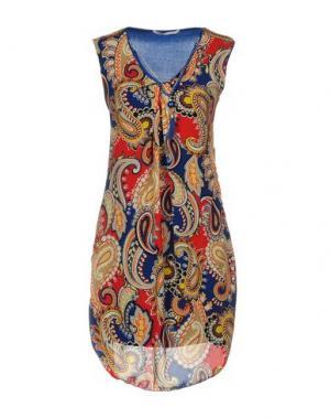 Короткое платье GIORGIA & JOHNS. Цвет: синий
