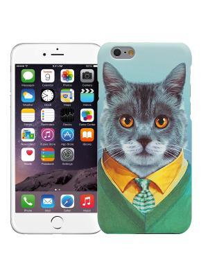 Чехол для iPhone 6/6s Кот в костюме Kawaii Factory. Цвет: зеленый, голубой
