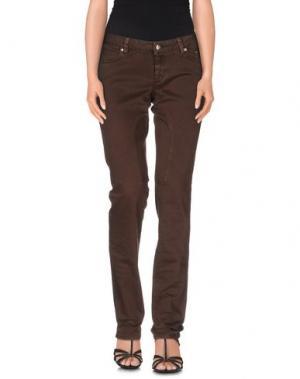 Джинсовые брюки SIVIGLIA. Цвет: темно-коричневый