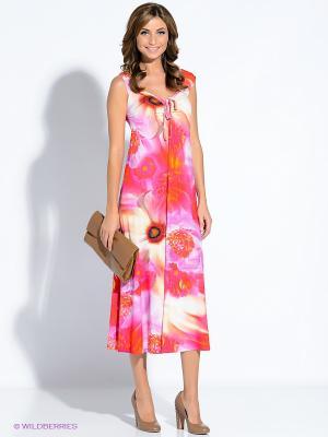 Платье T&M. Цвет: сиреневый, оранжевый, светло-желтый, фуксия