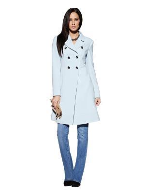 Пальто APART. Цвет: голубой