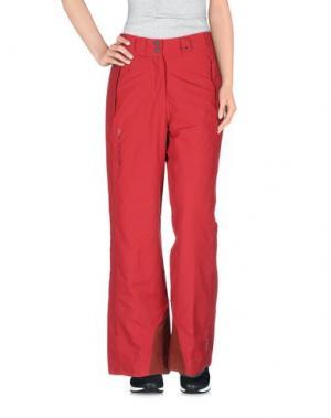 Лыжные брюки SALOMON. Цвет: кирпично-красный