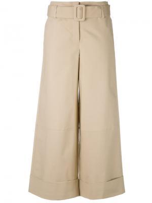 Широкие брюки с поясом Nanushka. Цвет: телесный