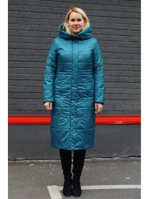 Пальто Полли Versia. Цвет: бирюзовый