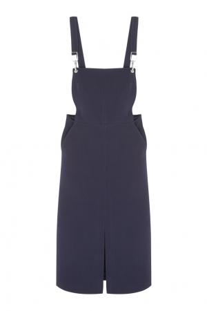 Шерстяное платье Gabriela Hearst. Цвет: темно-синий