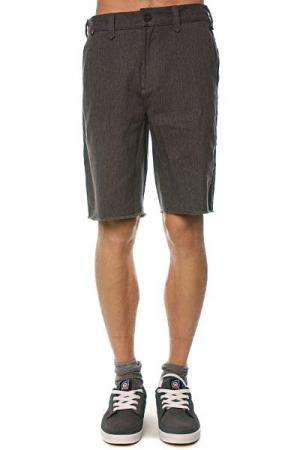 Джинсовые мужские шорты  Chino Short Charcoal Heather Fallen. Цвет: серый