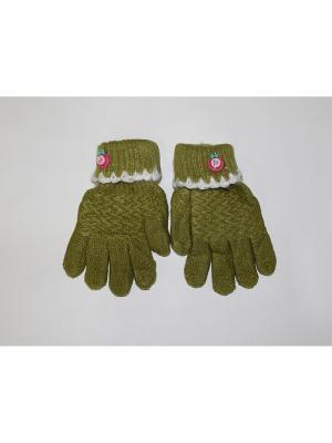 Перчатки Cascatto. Цвет: зеленый