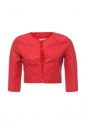 Куртка кожаная Paccio. Цвет: красный
