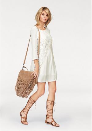 Платье Laura Scott. Цвет: цвет белой шерсти