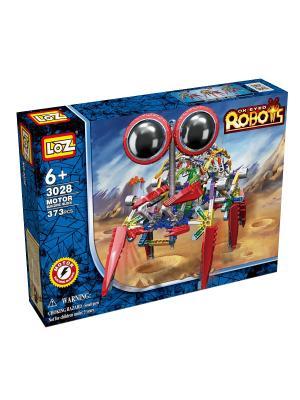 Электромеханический конструктор IROBOT. Серия: Роботы. Крабс Loz. Цвет: синий