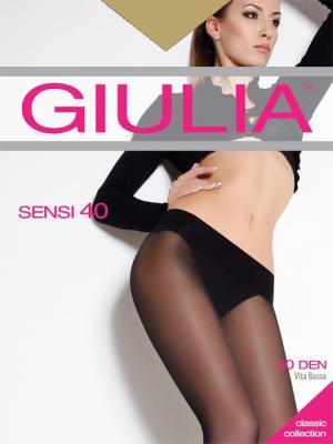 Колготки SENSI 40 VITA BASSA, 2 пары (40 ден) Giulia. Цвет: светло-коричневый
