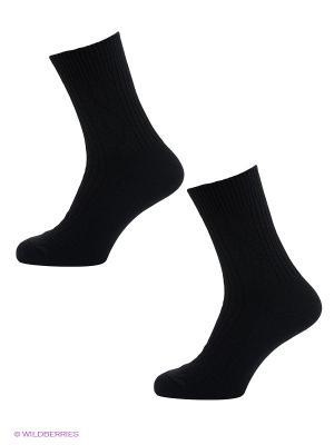Носки, 2 пары Burlesco. Цвет: черный